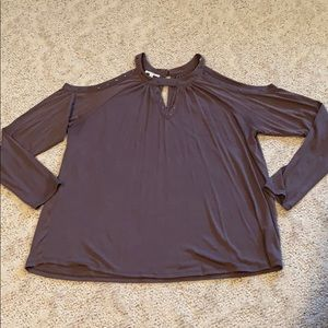 Maurices cold shoulder long sleeve shirt XL